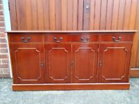 Book Case/DVD Storage solid wood with doors