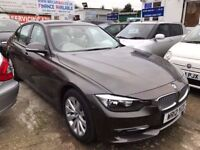 1 OWNER 2012 BMW 320i MODERN TURBO PETROL AUTOMATIC SATNAV HEATED SEATS FINANCE £192 PER MONTH