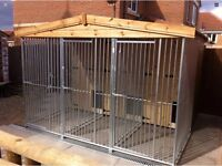 Block Of Three Kennels And Runs