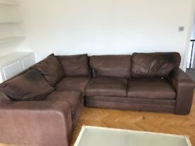 Darlings of Chelsea leather corner sofa