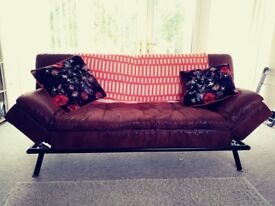 Comfortable Leather Double Sofabed