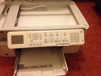 HP All in one WIRELESS C109 fax,scanner,copy and printer, usb, sd card, mmc AND dvd