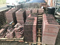 Reclaimed, 580 Antique Red, Double Roman, (granulated) Roof Tiles in very good condition