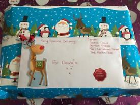 Christmas Cadbury advent gift set with letter from santa