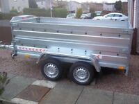 New Trailer 8.7 x 4.1 twin axle, double broadside flat cover free