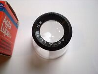 Vintage Agfa lupe (loupe) 8x Ideal negs & stamps, jewelry, watch repairs etc