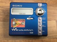 Sony Walkman minidisc player my n707 type r