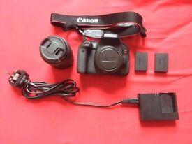 Bundle Canon 750D DSLR Camera + 18-55mm kit Lens + Case. Excellent condition
