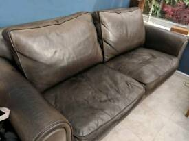 Colin and Hayes dark brown leather sofa
