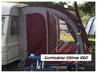 SunnCamp ultima 260 porch awning