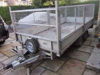 Ifor Williams LT146 Flatbed Trailer VG Condition 2016 with full mesh Sides