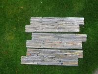 162 x stone z-shape wall panels / tiles CPZ-18TS grey/slate colour 610mm x 152mm (15sqm)