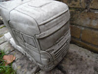 concrete stone scania lorry and trailer garden ornament