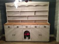 Professionally Painted Solid Pine Welsh Dresser
