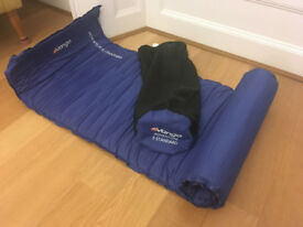 Inflatable sleeping mat and pillow