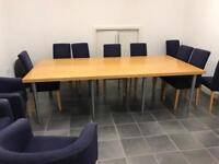 Large office table, with chairs
