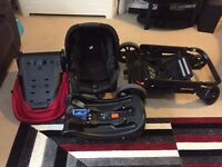 Joie Travel System**The Works** includes Car seat, Pram, Buggy and ISOFIX base! Very good condition