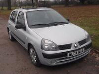 2004 RENAULT CLIO 1.4 AUTOMATIC, MOT DECEMBER 2017, ONLY 44,000 MILES, ONLY £995
