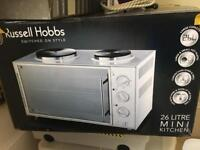 ussell Hobbs Mini Kitchen with Convection Oven and 2 Hot Plates 13824 -10, 3000 W
