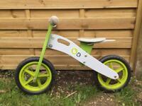 KinderKraft balance bike - green/grey