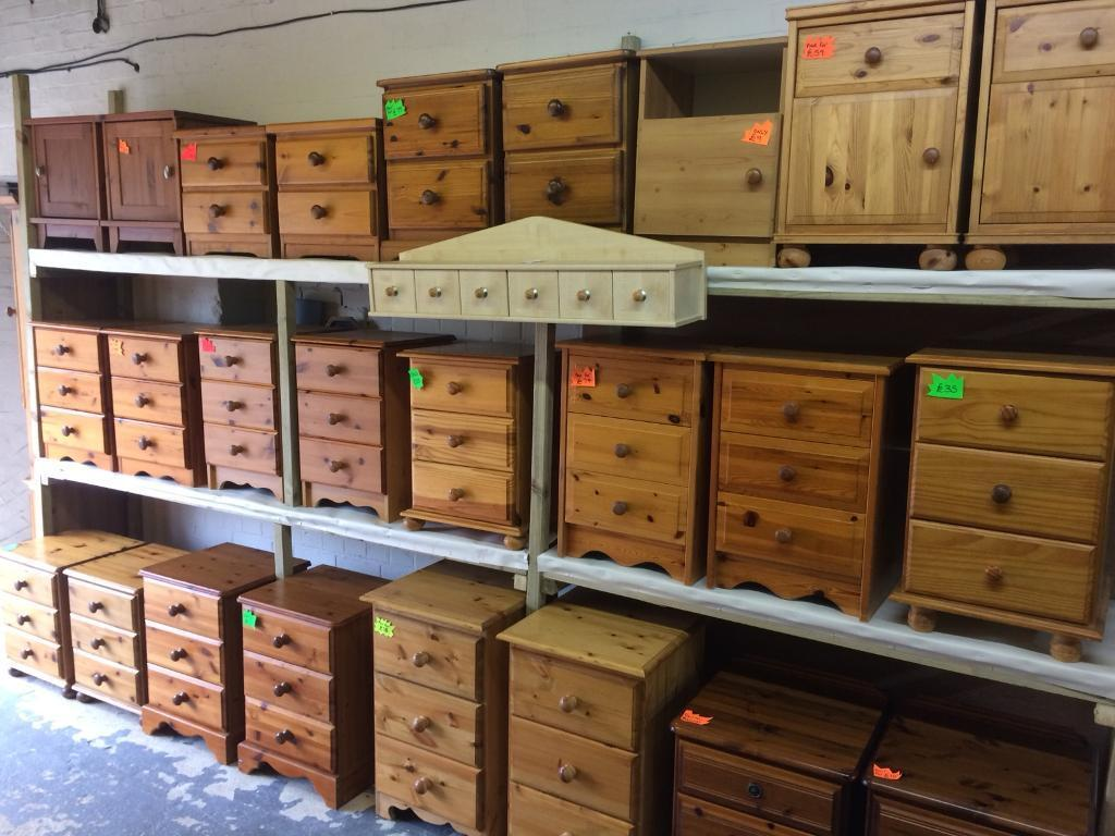 Quality used solid wood / pine bedside cabinets & more