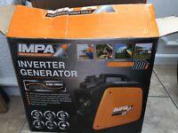 Generator impax 780w inverter generator ideal for camping, DIY/ building, caravaning & gardening