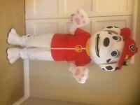 UK SELLER look alike marshall Mascot Costume fancy dress Dog Dress