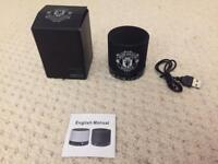 New Manchester United blue tooth portable speaker in gift box