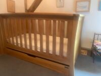 Mamas And Papas Ocean Solid Oak Cot Bed