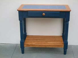 Solid Pine with Tiled Top Kitchen Occasional Table