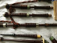 Vintage Cocusswood Bagpipes