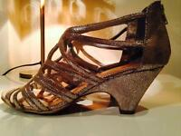 Silver Vintage Caged Wedding Heels