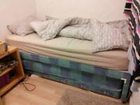 Single bed with further bed built in