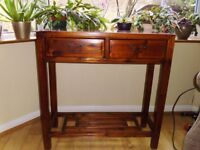 Compact Console table. Lacquered Wood. 80x80x30cm. Collect only Crookes S10. £45