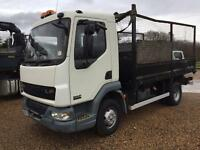 Daf lf 45 Tipper with cable puller 54 reg lez exhaust no vat can deliver