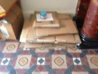 50 packing boxes for moving home available for free.