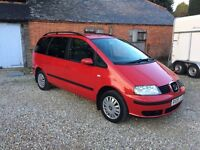 SEAT ALHAMBRA REFERENCE TDI 7 SEATER 6 SPEED SUPERB FAMILY VEHICLE FSH