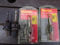 Starratt quality hole saws and arbors big job lot