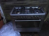Range cooker gas hob/electric oven