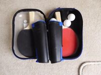 Table tennis set with adjustable net