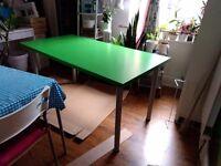 Large 150 x 75 cm green Ikea desk, excellent condition