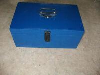 Wooden footlocker style tool box