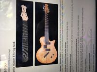 Original Novax 8 String neck Un-used & un-fretted 3 Bass and 5 Guitar (Charlie Hunter)