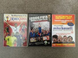 Collection of 3 football-related DVDs (2002 & 2006 World Cup, Mike Bassett England Manager)