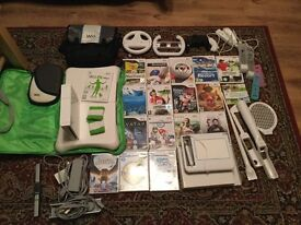wii games bundle and console