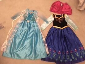 Frozen Dresses Anna and Elsa - Aged 8-9
