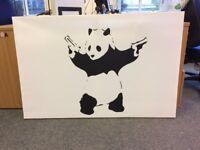 Banksy Panda Canvas