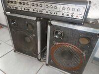4 Channel Carlsboro Mixer Pro Stage Amplifier plus 2 heavy duty speakers