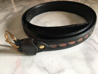 Original Leather 2 Tone Valentino Belt 42in (Adjustable Buckle)