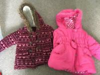 Girls 9-12 months coats